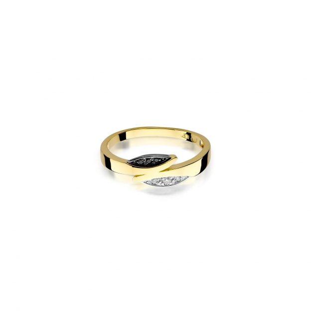 czarny diament pierścionek